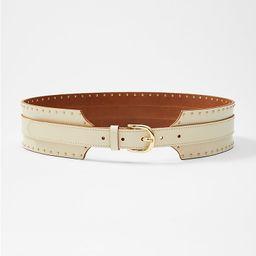 Leather Wide Waist Belt | LOFT | LOFT