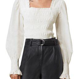 AllSaints Livi Puff Sleeve Crop Top | Nordstrom | Nordstrom