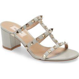 Valentino Rockstud Block Heel Sandal | Nordstrom