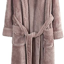 Richie House Women's Plush Soft Warm Fleece Bathrobe Robe RH1591   Amazon (US)