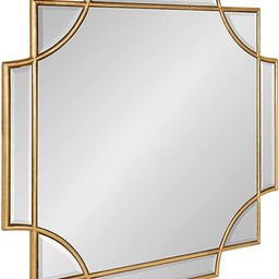 """Kate and Laurel Minuette Glam Square Wall Mirror, 24"""" x 24"""", Gold, Elegant Traditional Home Decor... 