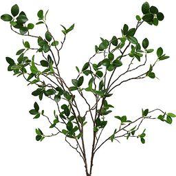 Htmeing Artificial Eucalytus Green Branches Faux Ficus Twig Home Office Shop Decoration (2PCS) | Amazon (US)