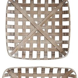 Creative Co-Op DA8528 Set of 3 Square Reproduction Tobacco Baskets | Amazon (US)
