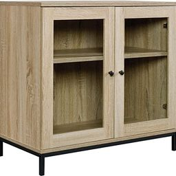"""Sauder North Avenue Display Cabinet, For TVs up to 32"""", Charter Oak finish 