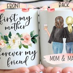 Personalized Mom Mug, Mom Birthday Gift From Daughter, Mothers Day Gift For Mom, Custom Mom And D...   Etsy (US)