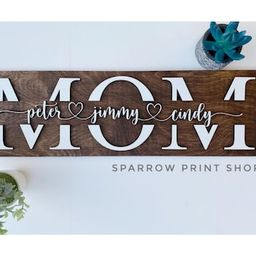 3D Personalized Mom Sign with Children Names  Mother's day Gift  Gift for Dad  Sign for Mom  Gift...   Etsy (US)