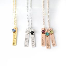 Mothers Day Necklace with Kids Names • Personalized Child Birthstone Necklace For Grandma • C...   Etsy (US)
