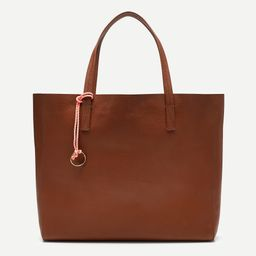 Large carryall tote in pebbled leather   J.Crew US