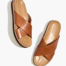 The Dayna Lugsole Slide Sandal in Leather   Madewell