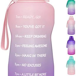 1 Gallon Water Bottle with Time Marker & Straw - 128 oz BPA Free Large Motivational Sports Water ... | Amazon (US)