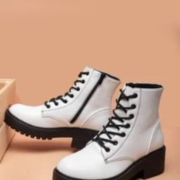 Minimalist Lace-up Front Combat Boots   SHEIN
