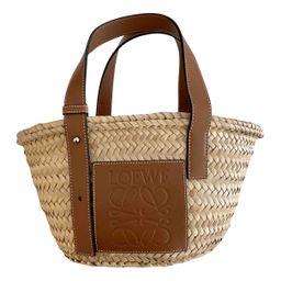 Loewe Basket Bag Beige Wicker handbag for Women   Vestiaire Collective (Global)
