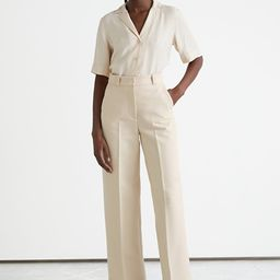 Wide Press Crease Trousers | & Other Stories