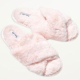 Faux Fur Crisscross Slippers | Splendid