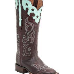 Lucchese Bootmaker Women's Western Boots BURGUNDY - Burgundy Jenna Leather Cowboy Boot - Women   Zulily
