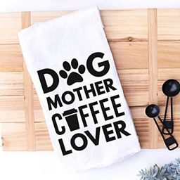 Dog Mom Kitchen Towel Dog Mother Coffee Lover | Amazon (US)