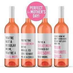Mother's Day Wine Labels 4 Funny Mom Wine Bottle Labels   Etsy   Etsy (US)