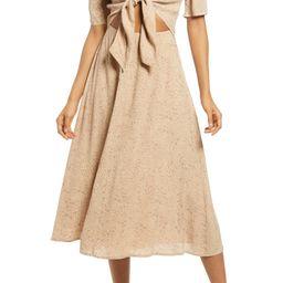 Rosalind Cheetah Print Tie Front Dress | Nordstrom