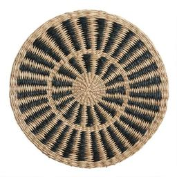 Round Natural and Black Woven Fiber Placemat | World Market
