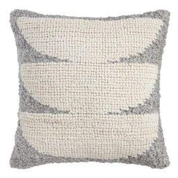 Gray Sol Indoor Outdoor Throw Pillow | World Market