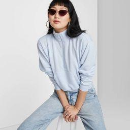 Women's Quarter Zip Sweatshirt - Wild Fable™   Target