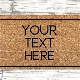 Custom doormat, your custom text door mat, Personalized Doormat, custom text doormat, personalize...   Etsy (US)