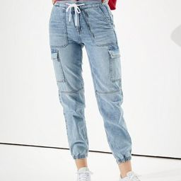 AE Super High-Waisted Denim Jogger   American Eagle Outfitters (US & CA)