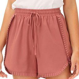 GRACE KARIN Womens Casual Summer Drawstring Shorts Elastic Waist Beach Lounge Shorts   Amazon (US)