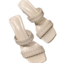 'Tasha' Double Braided Straps Heeled Sandals (3 Colors) | Goodnight Macaroon