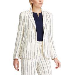 Women's Chaps Striped Linen-Blend Blazer | Kohl's