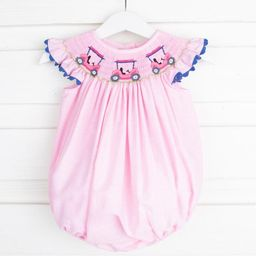 Golf Cart Smocked Bubble Light Pink Gingham | Smocked Auctions