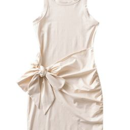 'Aimee' Front Tied Wrap Tank Dress (4 Colors)   Goodnight Macaroon