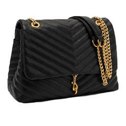 'Rebekah' Chevron Faux Leather Shoulder Flap Bag (3 Colors)   Goodnight Macaroon