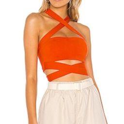 superdown Elva Halter Tie Top in Poppy from Revolve.com | Revolve Clothing (Global)