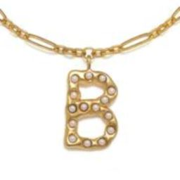 """""""B"""" Pearl Initial Talisman Necklace 