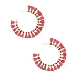 Evie Gold Hoop Earrings in Pink | Kendra Scott