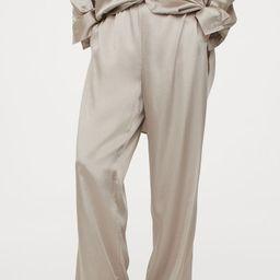 Wide-cut Satin Pants | H&M (US)