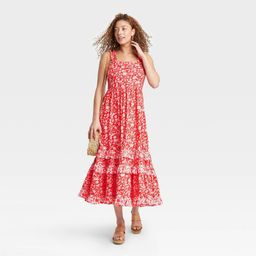 Women's Floral Print Smocked Tiered Tank Dress - Universal Thread™ | Target