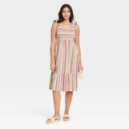 Women's Striped Ruffle Sleeveless Dress - Universal Thread™ | Target