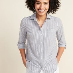 Classic Button-Front Shirt for Women | Old Navy (US)