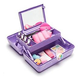 Caboodles On-The-Go Girl Retro Case, Lavender Marble | Amazon (US)