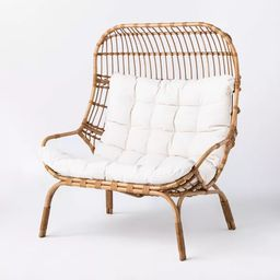 Wicker & Metal Patio Egg Chair - Threshold™ designed with Studio McGee, patio furniture, patio decor   Target