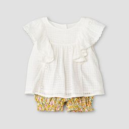 Baby Girls' 2pc Schiffli Dress- Cat & Jack™ White   Target