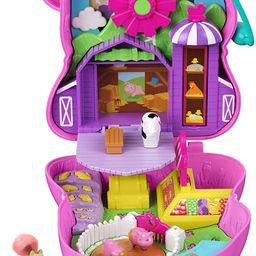 Polly Pocket On The Farm Piggy Compact, Farm Theme, Micro Polly Doll & Friend Doll, 2 Animal Figu... | Amazon (US)