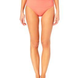 Time and Tru Women's and Women's Plus Size Peek-a-boo High Waist Swim Bottom | Walmart (US)
