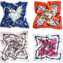 Vbiger Women Large Square Satin Scarf Mixed Neck Head Scarf Set 35x35inch | Amazon (US)