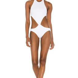 Norma Kamali x REVOLVE Chuck One Piece in White from Revolve.com   Revolve Clothing (Global)