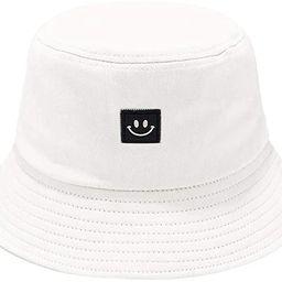 Ruinono Unise Hat Summer Travel Bucket Beach Sun Hat Smile Face Visor | Amazon (US)