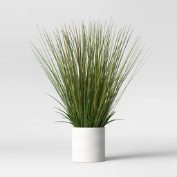 "25"" x 15"" Artificial Onion Grass Arrangement in Ceramic Pot - Project 62™   Target"
