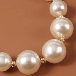 Faux Pearl Beaded Necklace | SHEIN
